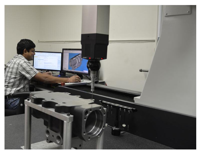CMM Inspection of a Manifold