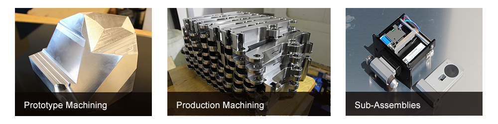 Different capabilities offered by CIMtech mfg, prototype machining, production machining and Sub-assemblies.